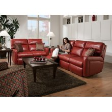 Savannah Double Reclining Loveseat with Pillows and Power