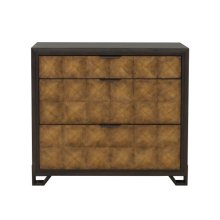 Hudson 3 Drawer Media Chest in Gold and Black
