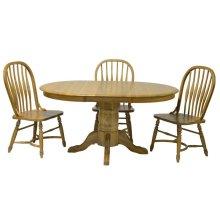"Laminated 30""H Pedestal Table w/1-18"" Leaf & Empire Feet"