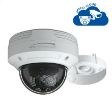 4MP H.265 Dome IP Camera with Junction Box, 2.8mm fixed lens, White Housing