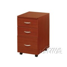 Cherry Finish File Cabinet Set