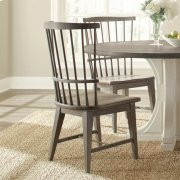 Juniper - Windsor Side Chair - Charcoal Finish Product Image