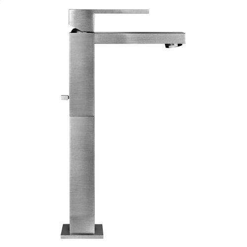 "Tall single lever washbasin mixer with pop-up assembly Spout projection 5-1/16"" Height 11-11/16"" Includes drain Max flow rate 1"