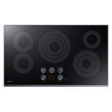 "36"" Electric Cooktop in Black Stainless Steel"