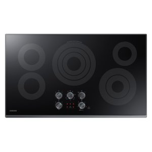 """36"""" Electric Cooktop in Black Stainless Steel Product Image"""