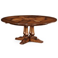 "59"" Round Country Extending Dining Table"