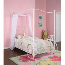 Princess Emily Carriage Canopy Twin Size Bed (includes Bed Frame)