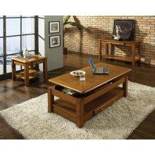 "Nelson End Table, oak 22""x24""x22"""