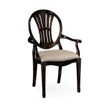 Hepplewhite wheatsheaf armchair (Black)