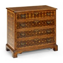 Oyster veneer small chest of drawers