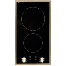 "12"" (30cm) electric ceramic cooktop with stainless steel trim"