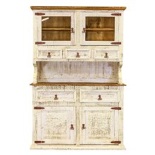 2 PC White China Cabinet