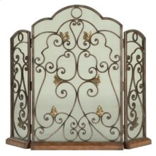 Scrolled Iron 3-Panel Fireplace Screen
