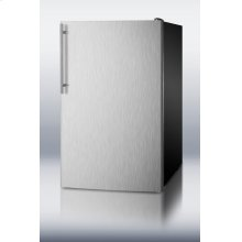 "ADA Compliant 20"" Wide Built-in Undercounter All-freezer, -20 C Capable With A Stainless Steel Door, Thin Handle and Black Cabinet"
