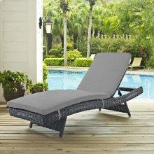 Summon Outdoor Patio Sunbrella® Chaise in Canvas Gray