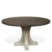 Juniper - Round Pedestal Dining Table Base - Chalk Finish