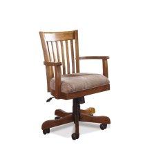 Seville Square Desk Chair Warm Oak finish