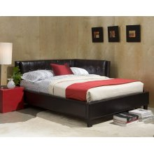 Rochester Twin Size Upholstered Black Corner Daybed