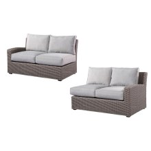 2-pc Set-lsf/rsf Loveseats Spuncrylic (1/ctn) Brick Grey# Tw08071