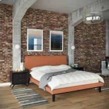 Bethany 3 Piece Queen Bedroom Set in Black Orange
