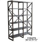 Newhart Rustic Wood and Galvanized Metal Bookshelf Product Image