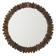 Repurposed Block Print Stamp Wall Mirror (Each One Will Vary)