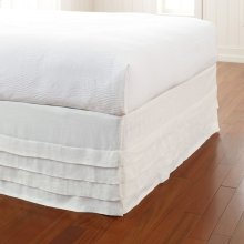 Waterfall Bed Panel, WHITE, QN