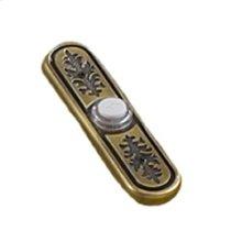 Antique brass, leaf design, lighted