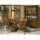 Classic Oak Burnished Rustic Dining Room Furniture Product Image