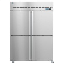 F2A-HS, Freezer, Two Section Upright, Half Stainless Doors with Lock