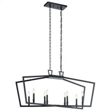Abbotswell 8 Light Linear Chandelier Black