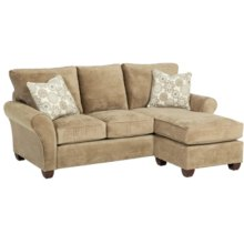SOFA CHAISE QUEEN SLEEPER WITH STORAGE AND GEL MATTRESS
