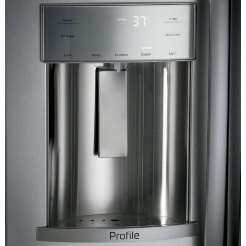 "GE Profile™ Series 42"" Built-In Side-by-Side Refrigerator with Dispenser"