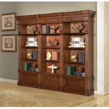 Granada 3 piece Museum Bookcase Set (9030 and 2-9031)
