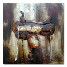 Saddle Up I 40x40 Metal Art