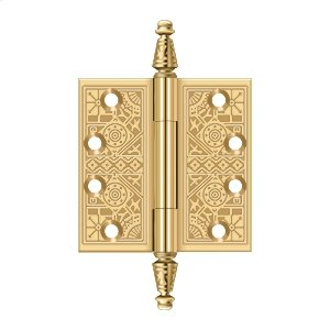 """4""""x 4"""" Square Hinges - PVD Polished Brass Product Image"""