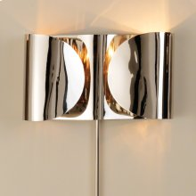 Folded Sconce-Nickel