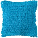 Cali Shag Pillow - Electric Blue Product Image