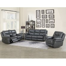 Steve Silver Co. Isabella Grey Color 3 Piece Recliner Sofa Set
