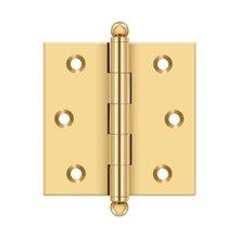 "2-1/2""x 2-1/2"" Hinge, w/ Ball Tips - PVD Polished Brass"