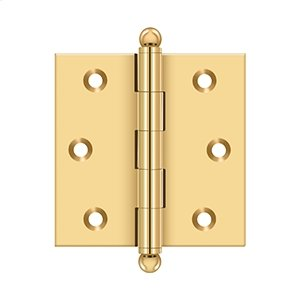 "2-1/2""x 2-1/2"" Hinge, w/ Ball Tips - PVD Polished Brass Product Image"