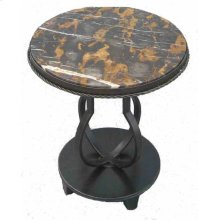 Metal Table with Marble Top