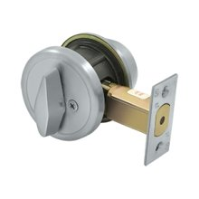 "Single Deadbolt IC Core Non CYL GR2 w/ 2-3/4"" Backset - Steel / Zinc"