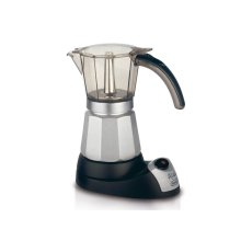 Alicia Electric Moka Pot Coffee Maker for Authentic Italian Espresso, 6 Cups - EMK6
