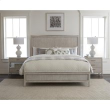 Lilly - King Panel Bed - Champagne Finish