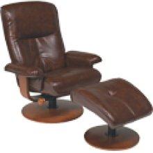 R-634 Nexus Brown Leather Recliner