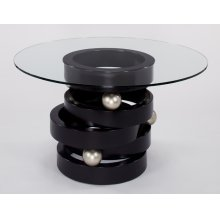 """Dining Table base with Glass 28x32x30"""" Glass Dia. 54"""""""