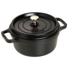 Staub Cast Iron 2.75-qt round Cocotte, Black