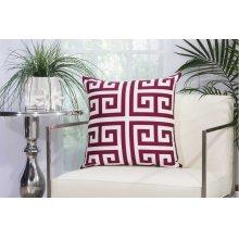 "Outdoor Pillow As047 Lilac 20"" X 20"" Throw Pillow"
