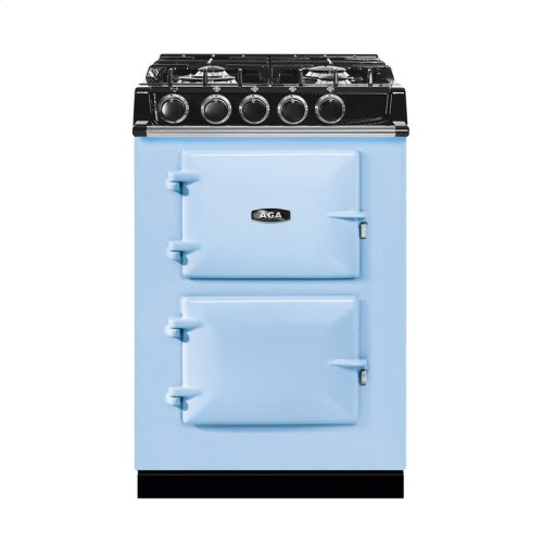 """AGA City 24"""" Electric/Natural Gas Duck Egg Blue with Stainless Steel trim"""